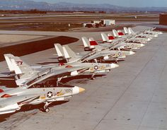 prototypes on the flight line at what could be Pt. Airplane Fighter, Fighter Aircraft, Military Jets, Military Aircraft, Air Fighter, Fighter Jets, Tomcat F14, Uss Enterprise Cvn 65, Naval Aviator