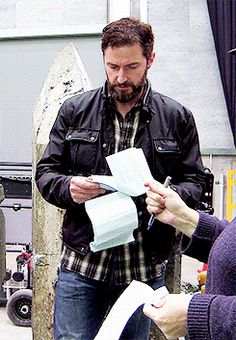 """Richard Armitage behind the scenes gifset (""""They did what?  How much did they spend? Clothes, wine, rented what?""""  Our bills have come in...)"""