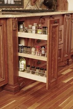 Spices have a home with this Base Spice Rack from Wellborn Cabinet, Inc.