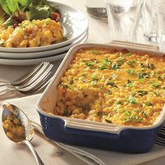 Creamy and savory-sweet, this casserole pairs with turkey and ham alike.  Try the different stir-ins and toppings to make it your own – your family will love it lots of ways.