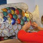 Before & After: Ingrid's Mosaic Garden Fish