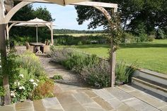 Hampshire Garden | Gravel planting with rosemary and catmint in country garden | Charlotte Rowe Garden Design