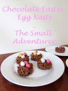 Chocolate Easter Egg Nests | The Small Adventurer