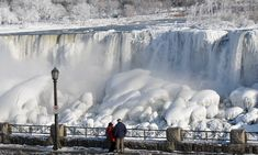 Niagara Falls frozen in polar vortex that battered US and Canada The Places Youll Go, Places To See, Niagara Falls Frozen, Beautiful World, Beautiful Places, Beautiful Scenery, Nicola Tesla, Toronto, Cool Pictures