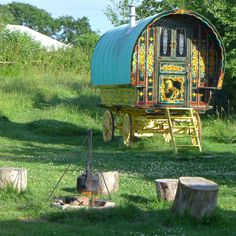 www.gypsycaravanbreaks.co.uk  Imagine dropping off to sleep in here......