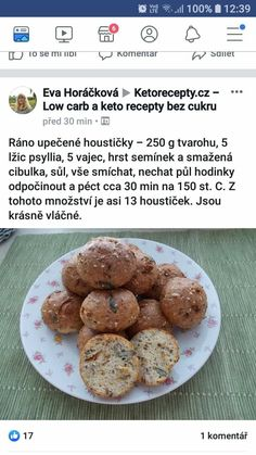 Keto Bread, Low Carb Diet, Food Inspiration, Food And Drink, Easy Meals, Yummy Food, Healthy Recipes, Cooking, Breakfast