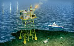 CGI technical illustration, oil industry. 3DS Max, Adobe Photoshop. #kenbear #technicalillustration #oilrig