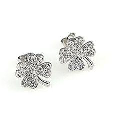 Shimmery clover earing