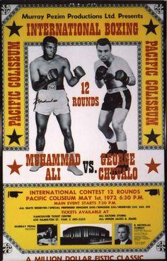 Boxing Poster Muhammad Ali #MuhammadAli #Ali #Boxing