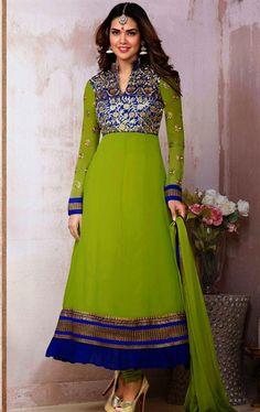 Picture of Beautiful Green Wedding Salwar Kameez