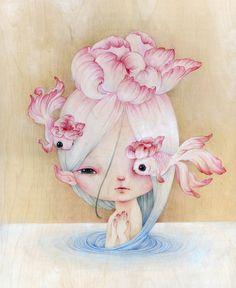 Flowerfish -- limited edition print (14/30). YiShuArt