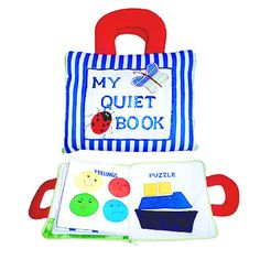 My quiet book is a classic toy that has become a favourite with Australian children. Its one of our most popular products, with lots of different activities, and a must-have for every parent looking for a simple yet entertaining toy for their little ones.  Filled with buckles, snap on shapes, velcro fabric pictures, zippers, large buttons, puzzles, pockets, shoe laces and more, book is sure to  keep your little one busy.  My Quiet book is designed to encourage hands on learning through play…