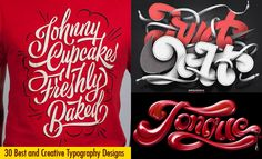 30 Best and Creative Typography Design examples for your inspiration. Read full article: http://webneel.com/typography-design | more http://webneel.com/typography | Follow us www.pinterest.com/webneel
