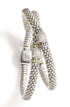 Lagos Caviar Diamond Rope Bracelet.