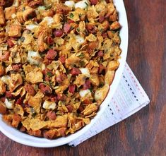 Tortilla Chip and Chorizo Stuffing   25 Delicious Stuffing Recipes For Thanksgiving