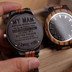 Wooden Engraved Personalized Watch For Men – BigBeryl Thoughtful Gifts For Him, Romantic Gifts For Him, Great Gifts For Men, Gifts For Boyfriend Long Distance, Diy Gifts For Boyfriend, Gifts For Husband, Bday Gifts For Him, Watch Engraving, Wood Engraving