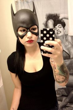 #Batgirl Batgirl cowl by http://www.reevzfx.com/#home