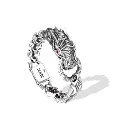Deific Dragon King Gem Bracelet. Dragon head design is inspired by the streamline shape of exotic super car while the links are built to resemble dragon scales.