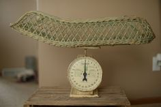 Antique Wicker Hanson Nursery Scale by PrimitiveMoose on Etsy, $110.00