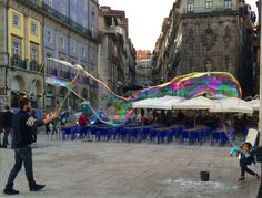 Praça da Ribeira no Porto em tons de aguarela