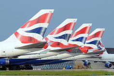British Airways Boeing 747 tail fins