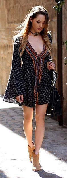 Boho Beauty. The  bohemian fashion.