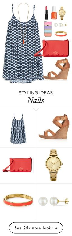 """Never Forget 9/11 //day 252"" by littlebitofeverything on Polyvore featuring MANGO, Miss Selfridge, Casetify, Kate Spade, Topshop, Miadora, NARS Cosmetics, Essie and Oasis"