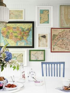 Map wall of places we've been together