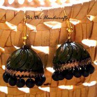 Terracotta Jhumkas - Olive Green Gold $5
