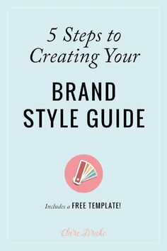 My most popular blog post by far - learn how to craft your own brand style guide, whether it's for your blog, business or personal brand. You also get a free brand style guide template that is editable in Adobe InDesign, Illustrator and Canva. Via @claredrake1