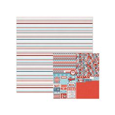 We R Memory Keepers - Red White and Blue Collection - 12 x 12 Double Sided Paper - Freedom Stripes at Scrapbook.com $0.85
