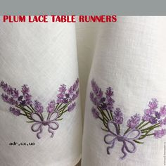 plum lace table runners