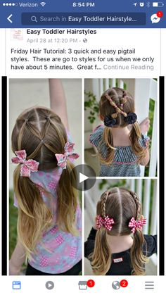 Everyday Hairstyles for toddlers . Everyday Hairstyles for toddlers . 16 toddler Hair Styles to Mix Up the Pony Tail and Simple Braids Little Girl Short Hairstyles, Easy Toddler Hairstyles, Baby Girl Hairstyles, Girl Haircuts, Summer Hairstyles, Cute Hairstyles, Braided Hairstyles, Amazing Hairstyles, School Hairstyles