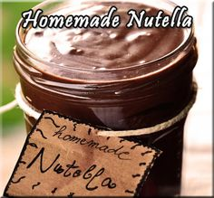 Homemade Nutella Recipe from The Bakers Dozen http://thebakersdozen.org/recipes/homemade-nutella.html#.Ue97d43VAVE