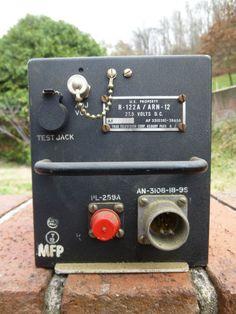 Vintage US Military R-122A/ARN-12 Airborne Navigation Receiver Radio Trad Televi
