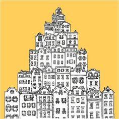 Janice Jong / city illustration / house