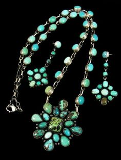 bea tom jewelry - turquoise necklace and earrings