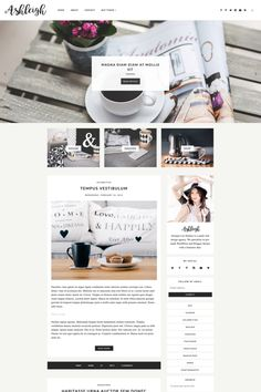 Responsive Blogger Template-Ashleigh by Georgia Lou Studios on @creativemarket