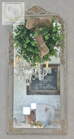 DIY Chippy French Country  Vintage Mirror Makeover