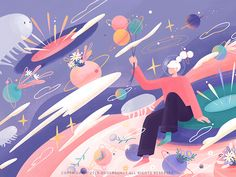 The universe life# illustrations-About the dream of time water bear bug flower flower illustration universe time dream design illustration illustrations Art And Illustration, Illustrations And Posters, Grafik Design, Storyboard, Vector Art, Cool Art, Concept Art, Art Drawings, Character Design