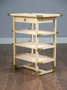 Natural Finish Wood Side Table - Mecox Gardens