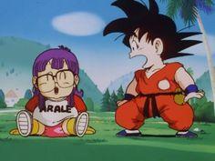 Arale y Goku