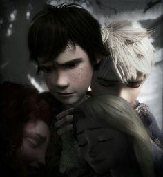 We Mourn Together, Jack Frost, Hiccup, Merida, Rapunzel.