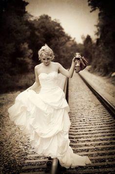 Trash the dress vías del tren