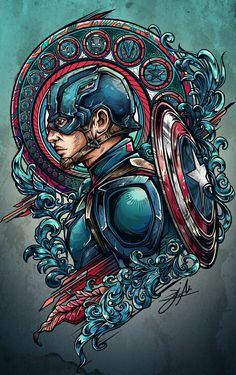 Team iron vs team cap project on behance art comic zeichnungen, comic kunst Bd Comics, Marvel Dc Comics, Marvel Heroes, Batwoman, Nightwing, Foto T Shirt, Harley Queen, Fantasy Anime, Graphisches Design