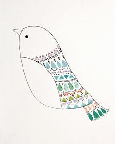 Notre oiseau customisé avec nos gommettes colorama éditées par @monpetitart, (c)Mini labo