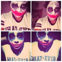 1st try for #makeup#forthejoker#weirdo#cosplaymakeup#preping