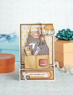 "Give this card to your own ""Mr Fix It"" this Father's Day. Find the steps in Papercraft Inspirations issue 152."