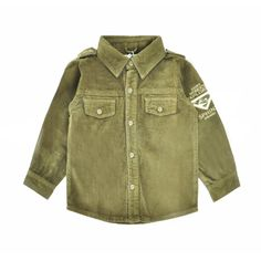 Victory! Check out my new Vintage Distressed Corduroy Shirt in Green for Boy, snagged at a crazy discounted price with the PatPat app.