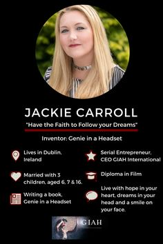 Jackie Carroll is Mom Inventor of Genie in a Headset. She's about to launch the Beta Version of her Course, Visualization to Realization Join us now.